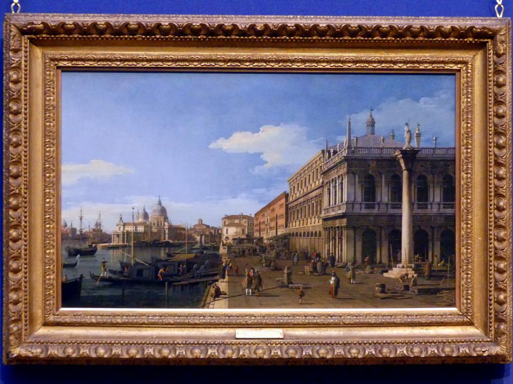 "Giovanni Antonio Canal (""Canaletto""): Der Molo in Venedig Richtung Westen, um 1745"