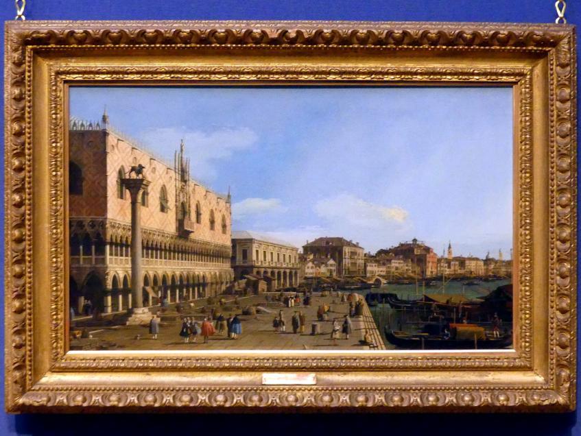 """Giovanni Antonio Canal (""""Canaletto""""): Die Riva degli Schiavoni in Venedig, um 1745"""