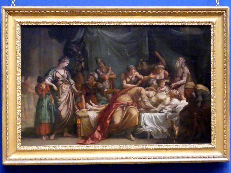 Gavin Hamilton: Andromache beweint den Tod Hektors, um 1759