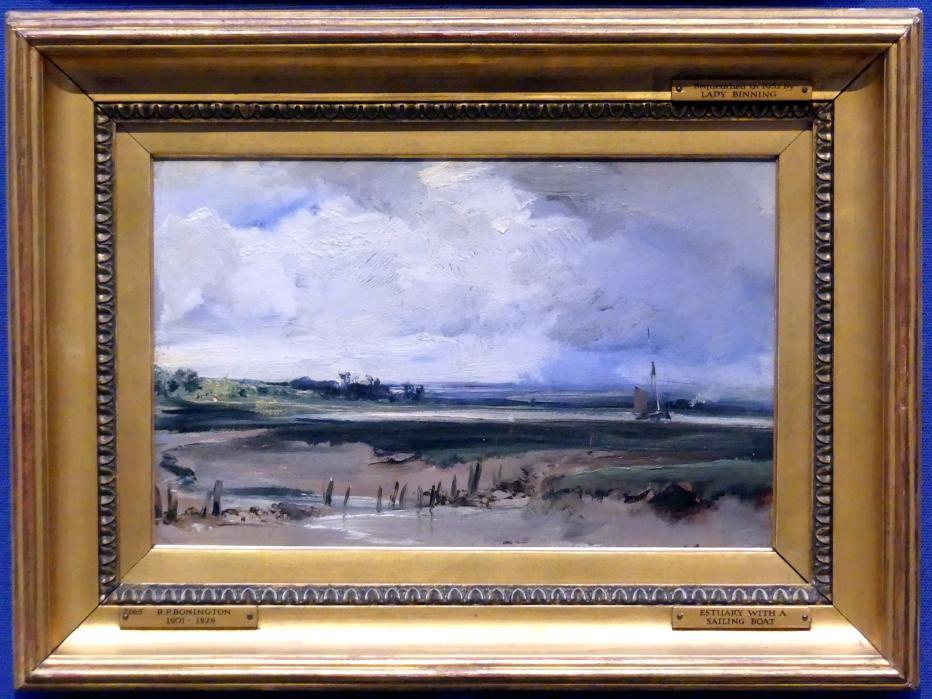 Richard Parkes Bonington: Les Salinières von Trouville, um 1828