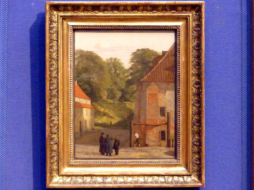 Christen Købke: Blick vom Platz im Kastell auf den Ringwall, um 1830