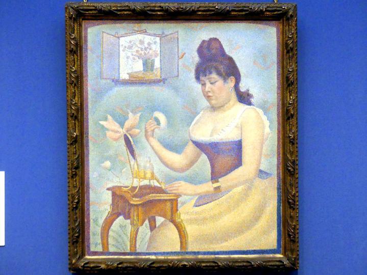Georges Seurat: Junge Frau beim Pudern, um 1888 - 1890