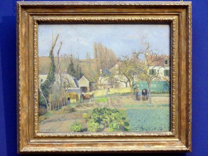 Camille Pissarro: Gemüsegarten in L'Hermitage bei Pontoise, 1874