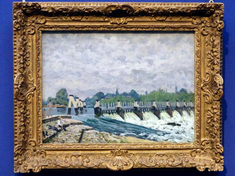 Alfred Sisley: Molesey Weir, Hampton Court, 1874