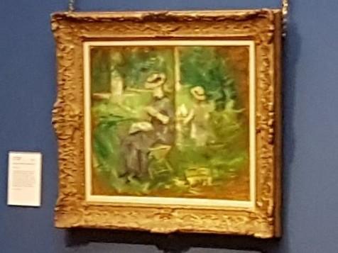 Berthe Morisot: Frau mit Kind in einem Garten, 1883 - 1884