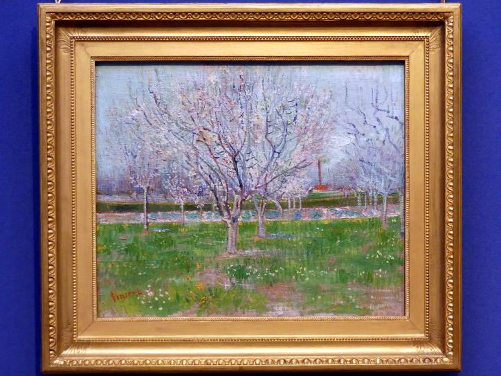 Vincent van Gogh: Obstgarten in der Blüte (Pflaumenbäume) in Arles, 1888