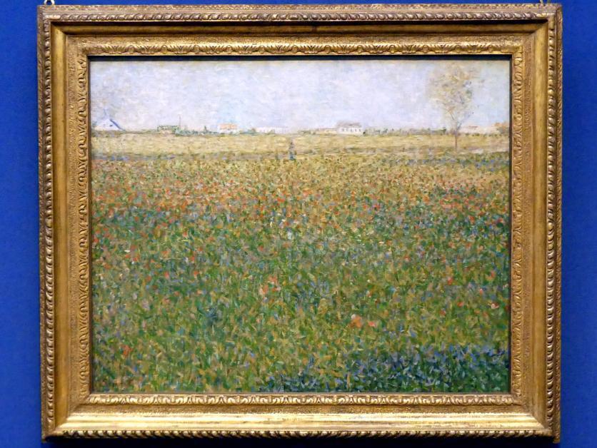 Georges Seurat: Luzernenfeld bei Saint-Denis, 1884 - 1885