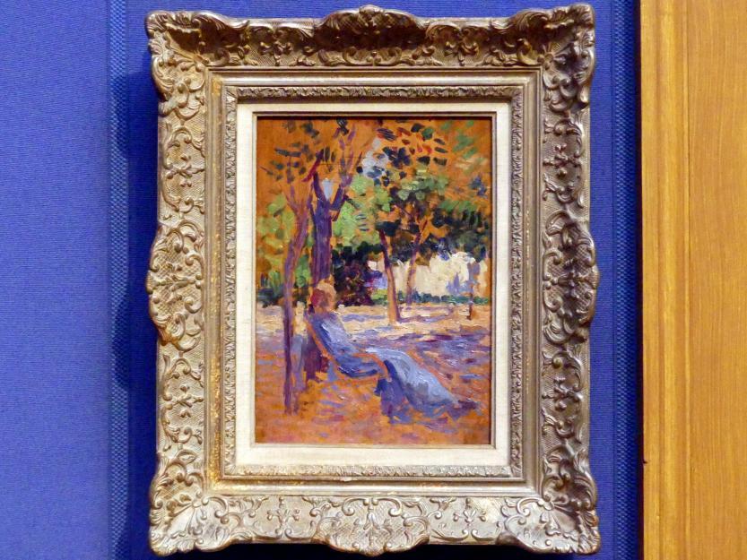 Maximilien Luce: Lucie Cousturier (1876-1925) in ihrem Garten, Undatiert