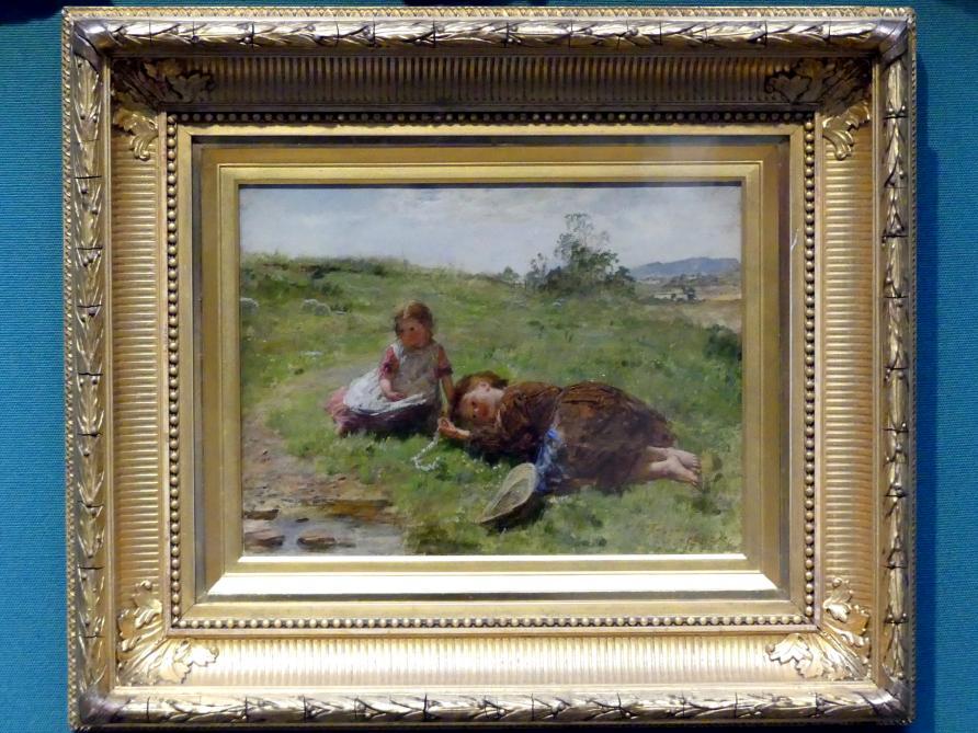 William McTaggart: Die Gänseblümchen-Kette, 1863