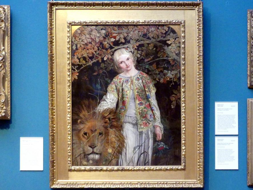 William Bell Scott: Una und der Löwe, 1860