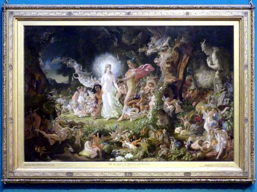 Joseph Noel Paton: Der Streit zwischen Oberon und Titania, 1849 - 1850