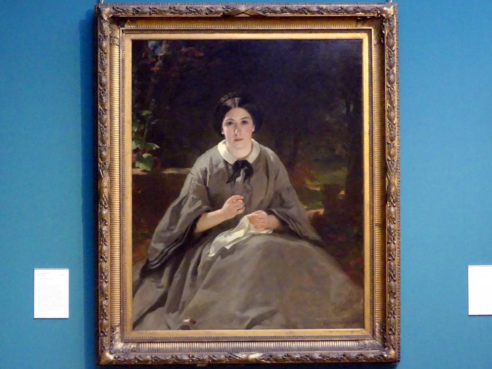 Daniel Macnee: Eine Dame in Grau, 1859