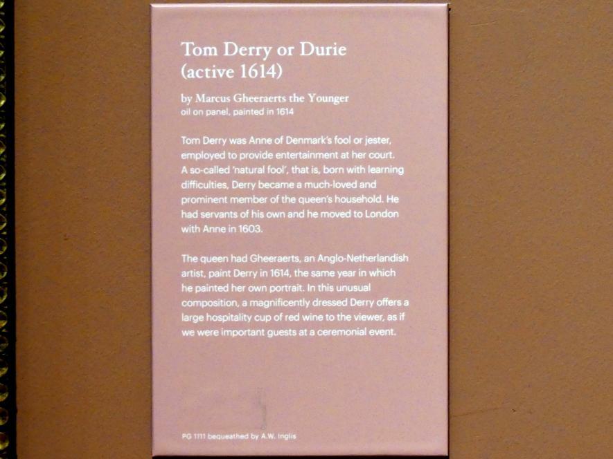 Marcus Gerards der Jüngere: Tom Derry oder Durie (aktiv 1614), 1614, Bild 2/2