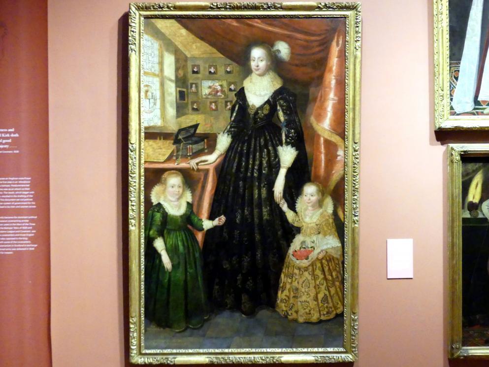 George Jamesone: Lady Anne Erskine, Gräfin von Rothes (gest. 1640) und ihre Töchter Lady Margaret Leslie (1621-1688) und Lady Mary Leslie (geb.1620), 1626
