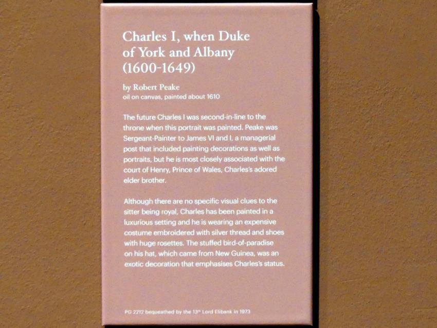 Robert Peake der Ältere: Karl I. als Herzog von York und Albany, um 1610, Bild 2/2