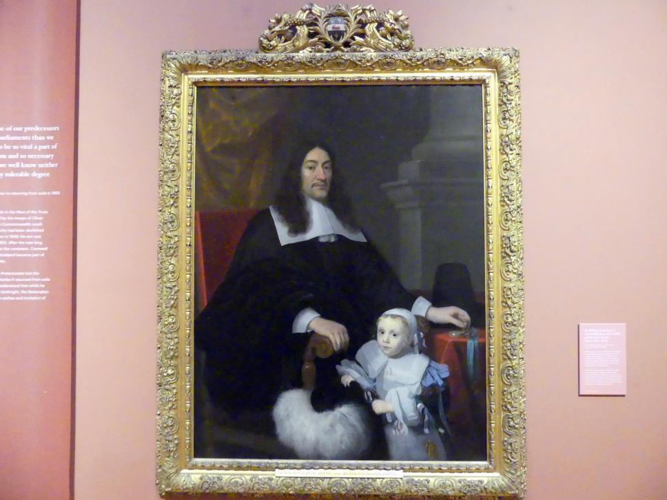 Abraham Lambertsz. van den Tempel: William Davidson von Curriehill (um 1615-1689) und sein Sohn Charles (um 1662-1666), um 1664