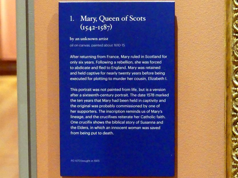 Mary, Königin von Schottland (1542-1587), um 1610 - 1615, Bild 2/2