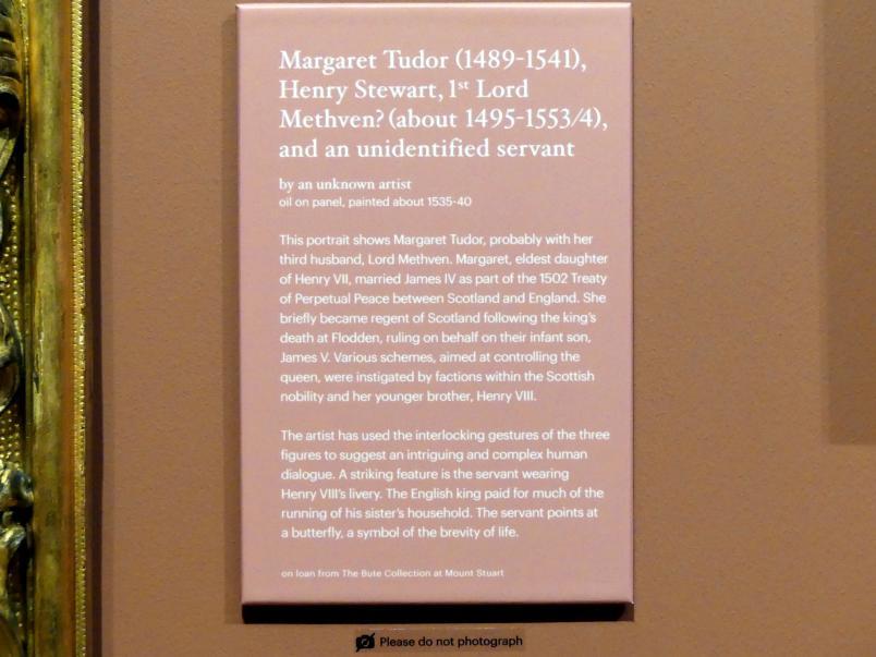 Margaret Tudor (1498-1541), Henry Stewart, 1. Lord Methven? (um 1495-1553/4) und ein unbekannter Diener, um 1535 - 1540