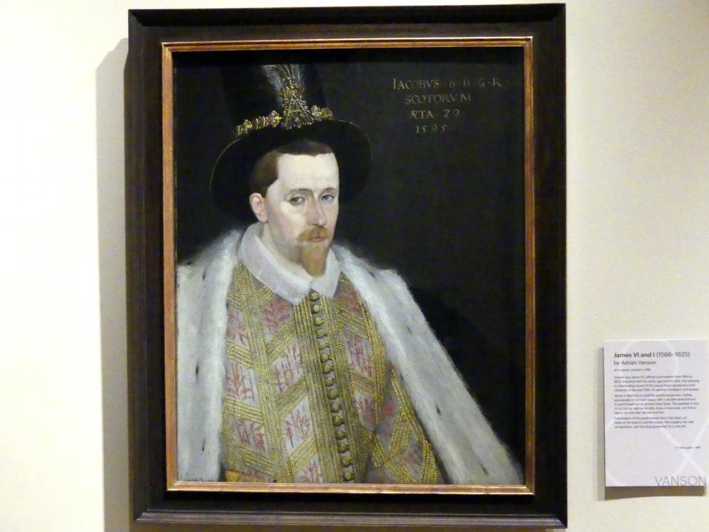 Adrian Vanson: James VI und I (1566-1625), 1595
