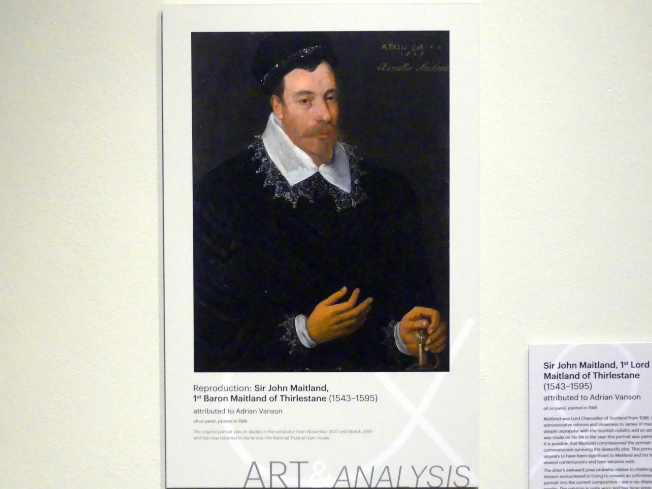 Adrian Vanson: John Maitland, 1st Lord Maitland of Thirlestane (1543-1595), 1589
