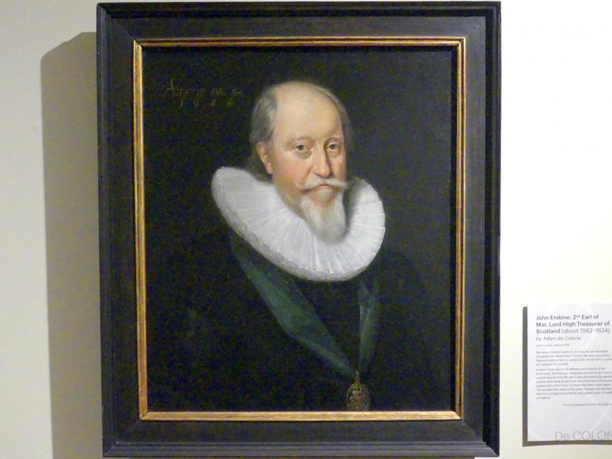 Adam Louisz. de Colonia: John Erskine, 2. Earl of Mar, Lord High Treasurer of Scotland (um 1562-1634), 1626