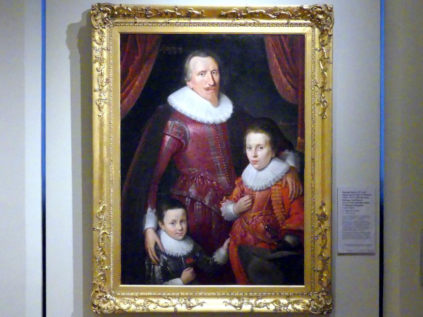 Adam Louisz. de Colonia: George Seton, 8. Lord Seton und 3. Earl of Winton (1584-1650) mit seinen Söhnen George, Lord Seton (1613-1648) und Alexander, 1. Viscount Kingston (1620-1691), 1625