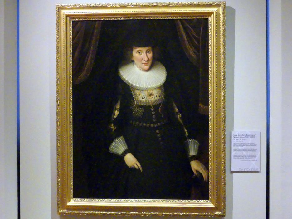 Adam Louisz. de Colonia: Lady Anne Hay, Gräfin von Winton (um 1582-1625/28), 1625