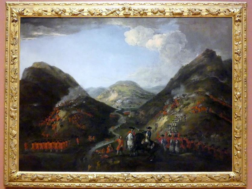 Peter Tillemans: Schlacht von Glenshiel 10. Juni 1719, 1719