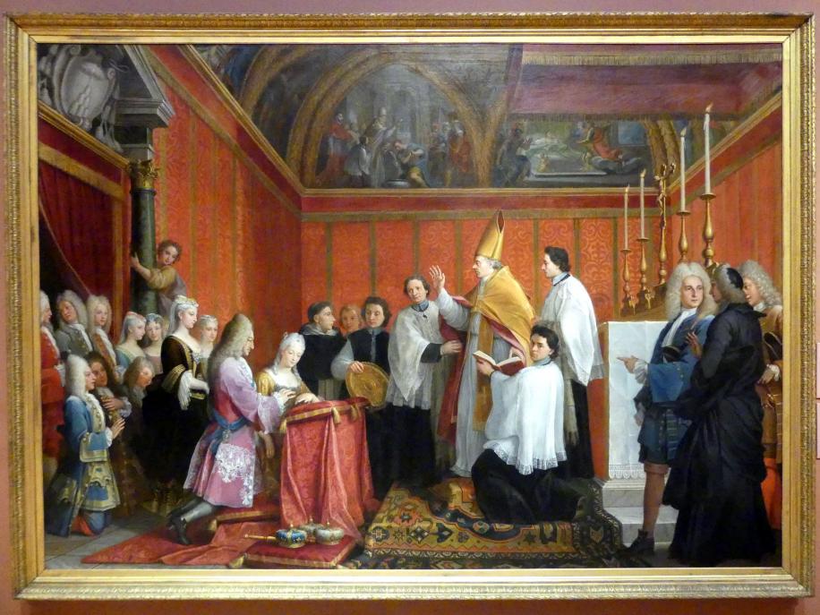 Agostino Masucci: Vermählung von James Francis Edward Stuart mit Maria Clementina Sobieska, um 1735