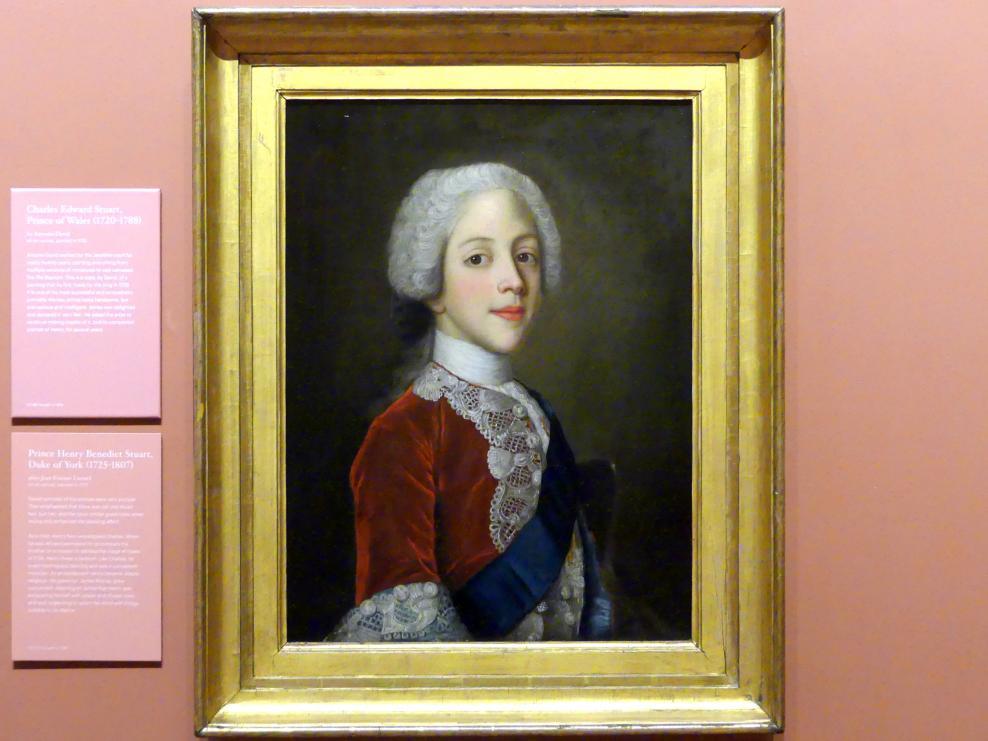 Prinz Henry Benedikt Clement Stewart (1725 - 1807), 1737