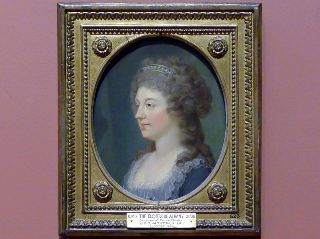 Hugh Douglas Hamilton: Charlotte Stuart, Herzogin von Albany (1753-1789), um 1785 - 1786