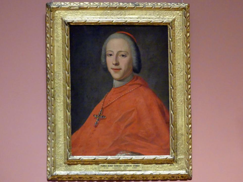 Prinz Henry Benedict Stuart, Kardinaldekan von York (1725-1807), um 1748