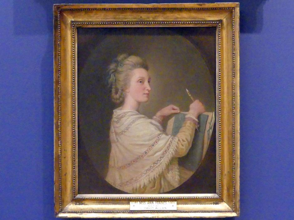 David Allan: Anne Forbes (1745-1834), 1781