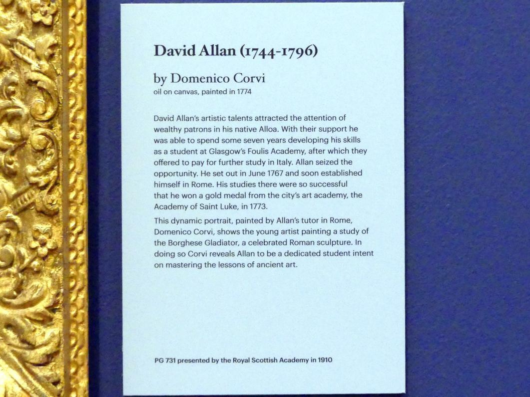 Domenico Corvi: David Allan (1744-1796), 1774, Bild 2/2