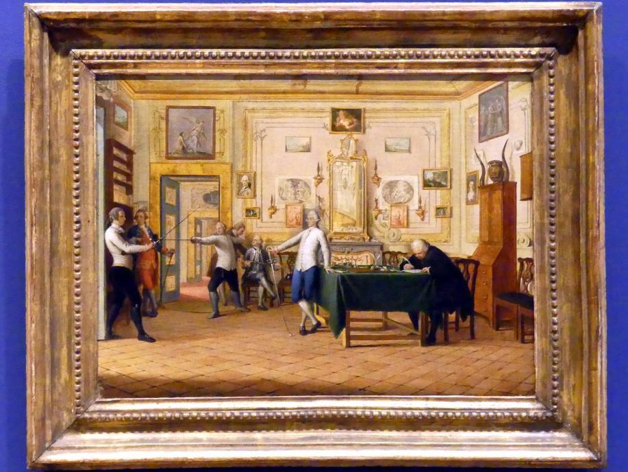 Pietro Fabris: Zwei Ansichten der Wohnung von Kenneth Mackenzie, 1. Graf von Seaforth (1744-1781) in Neapel, 1771