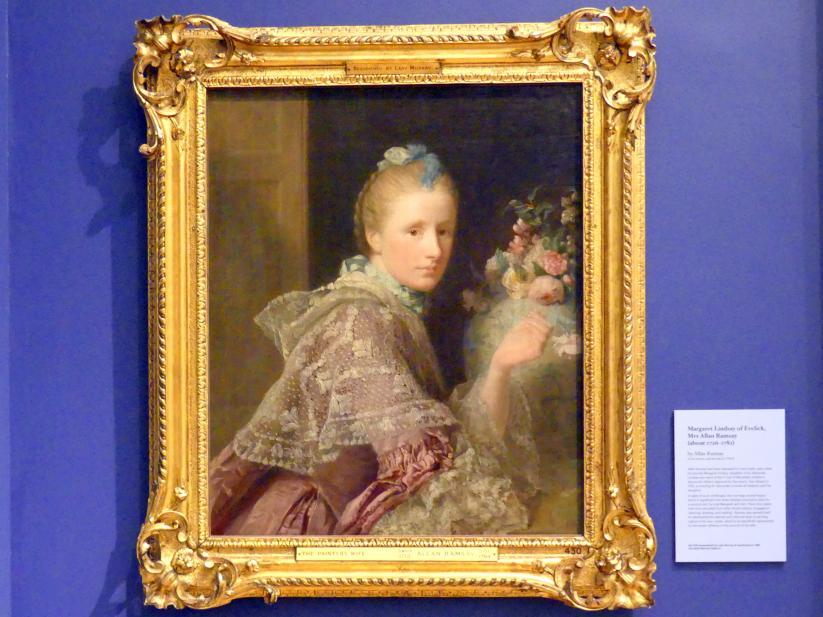 Allan Ramsay: Margaret Lindsay of Evelick, Ehefrau von Allan Ramsey (um 1726-1782), um 1758 - 1759
