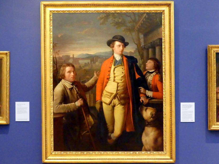 Gavin Hamilton: Douglas Hamilton mit Dr. John Moore und Sir John Moore als jungen Knaben, um 1775 - 1777