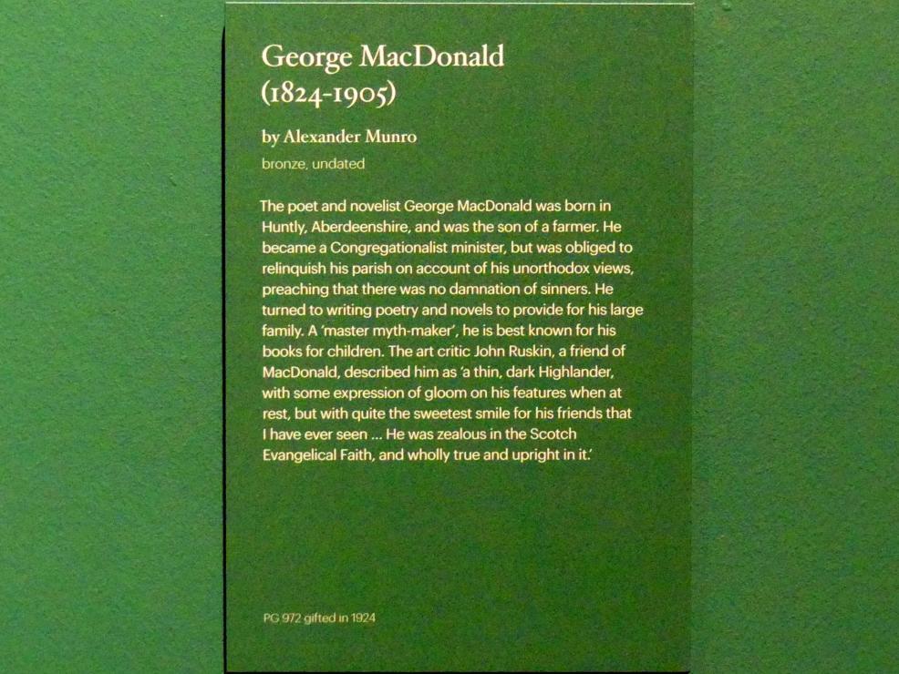 Alexander Munro: George MacDonald (1824-1905), Undatiert, Bild 2/2