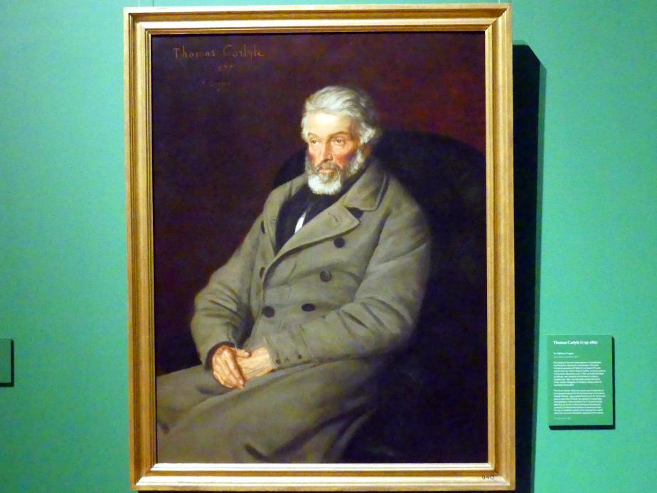Alphonse Legros: Thomas Carlyle (1795-1881), 1877