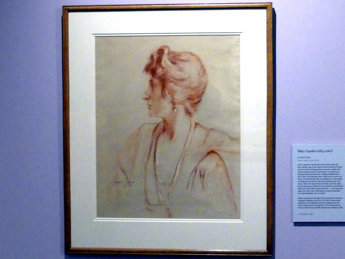 Mark Tobey: Mary Garden (1874-1967), 1918