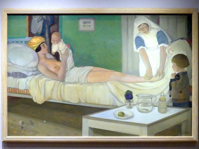 Cecile Walton: Romanze mit ihren Kindern Edward und Gavril, 1920
