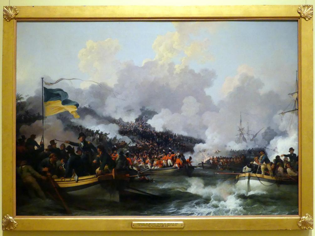Philipp Jakob Loutherbourg der Jüngere: Die Anlandung britischer Truppen in Abukir am 8. März 1801, 1802