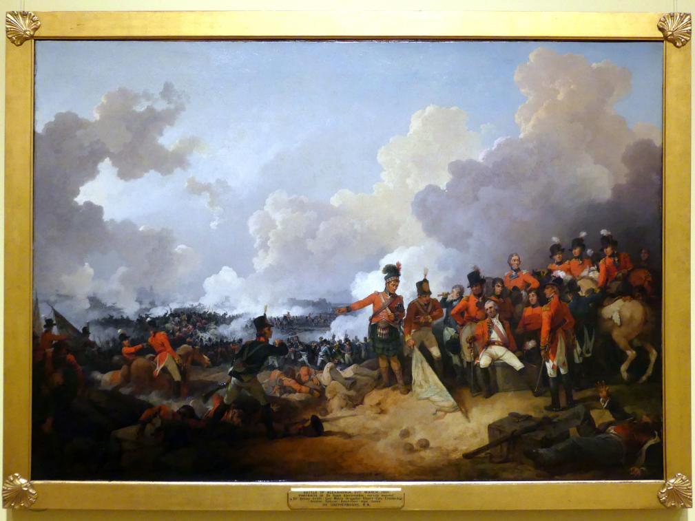 Philipp Jakob Loutherbourg der Jüngere: Die Schlacht von Alexandria am 21. März 1801, 1802