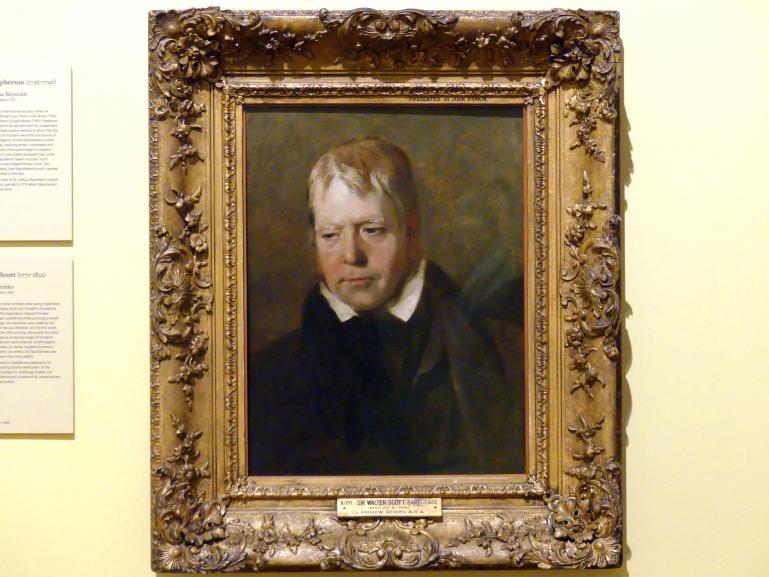 Andrew Geddes: Sir Walter Scott (1771-1832), um 1818