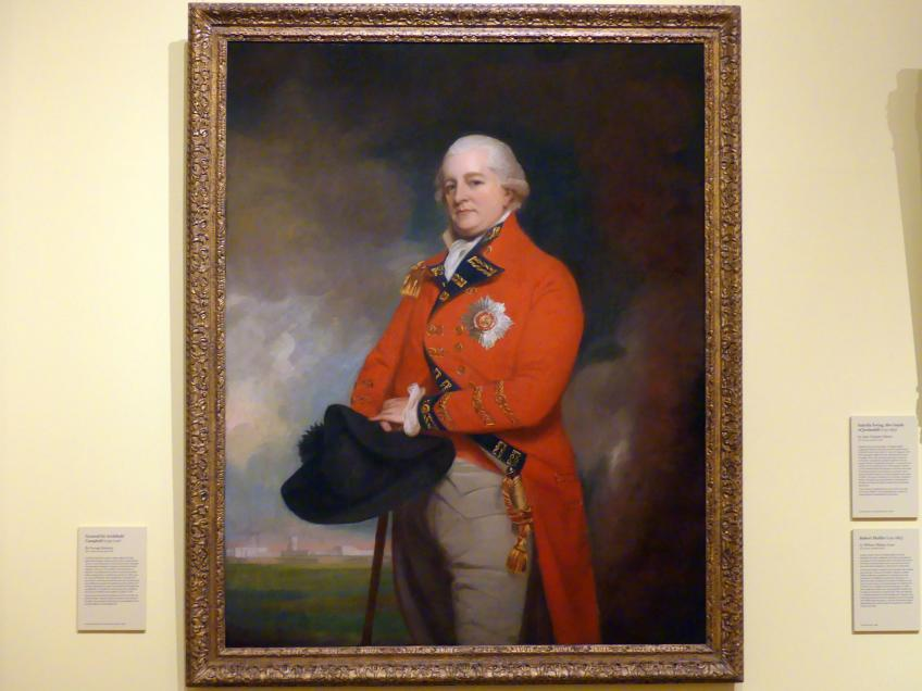George Romney: General Sir Archibald Campbell (1739-1791), um 1791