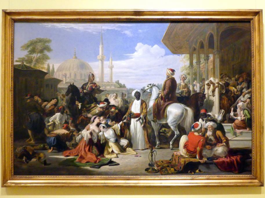 William Allan: Der Sklavenmarkt in Konstantinopel, 1838