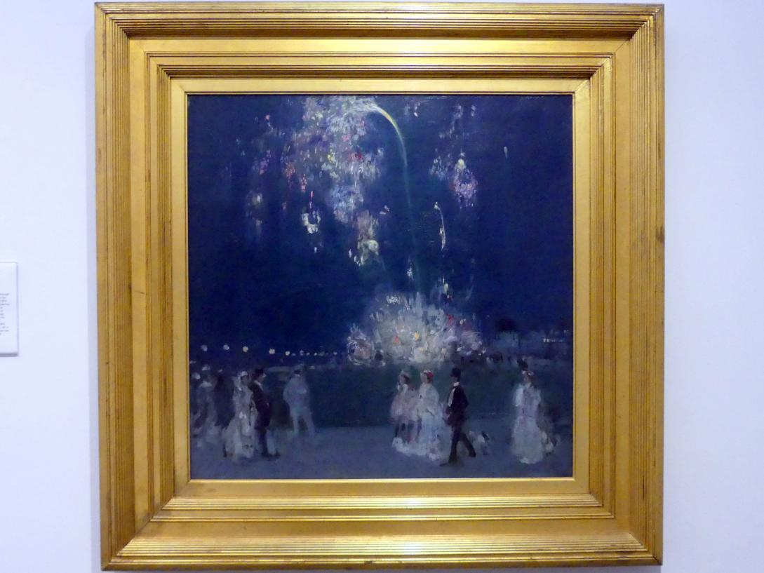 John Duncan Fergusson: Dieppe am 14. Juli 1905 in der Nacht, 1905