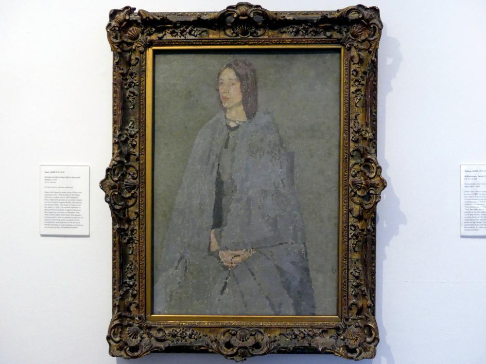 Gwen John (Gwendolen Mary John): Bildnis eines Mädchens in grau (Mädchen in grau mit Rosenkranz), um 1920