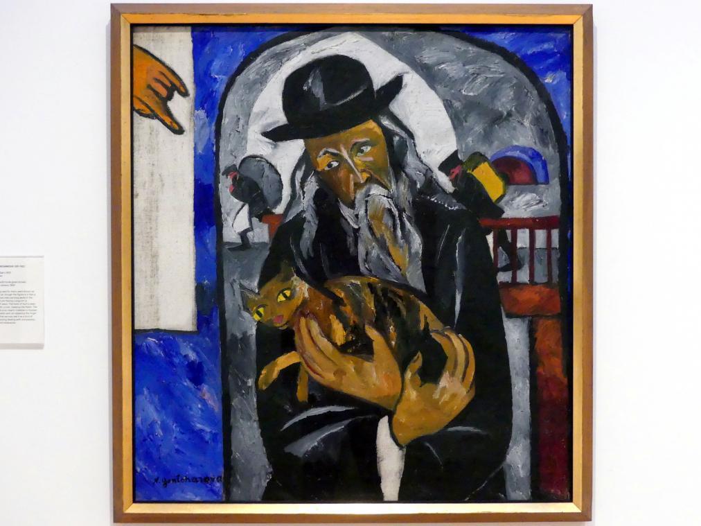 Natalija Sergejewna Gontscharowa: Rabbi mit Katze, um 1912