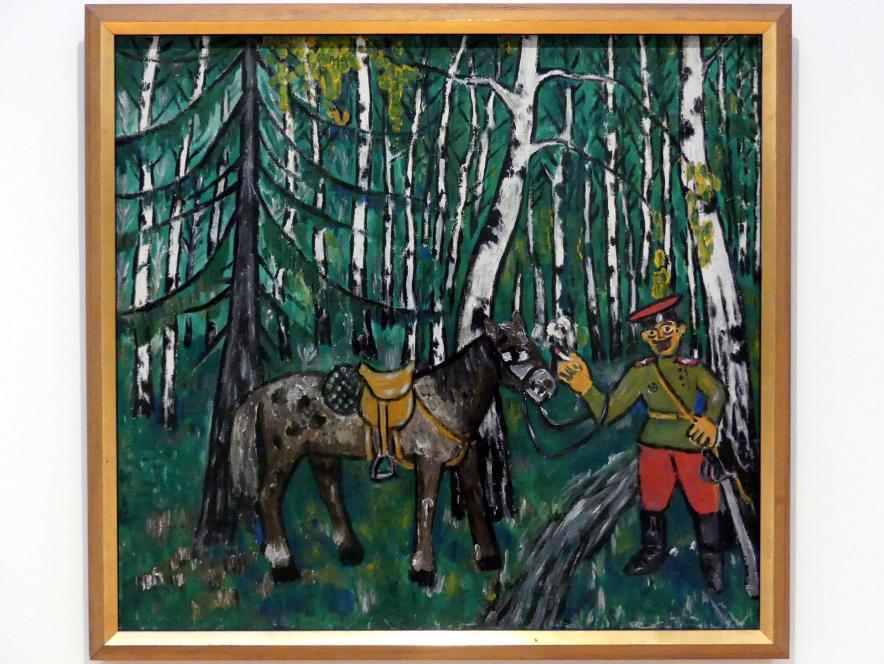 Michail Fjodorowitsch Larionow: Soldat im Wald, um 1911